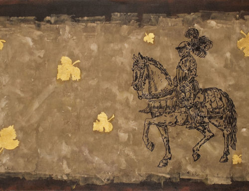 Brown Knight, Yellow Flowers